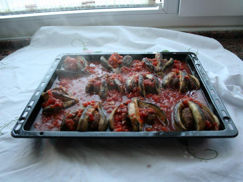 Patlıcanlı yelpaze kebabı(resimli anlatım)